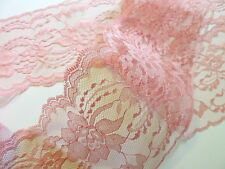 DUSTY ROSE LACE 5 yds - 4 in. wide - Wedding - Table Runners - INVITATIONS