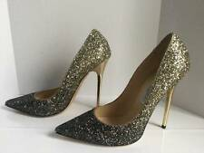 JIMMY CHOO ANOUK COURSE DEGRADE GLITTER PUMPS sz 39.5 STUNNING