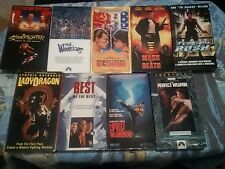 THE PERFECT WEAPON RARE OOP VHS LOT OF 9 MARTIAL ARTS LAMAS VAN DAMME BOLO YEUNG