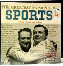 RECORD & BOOKLET Greatest Moments in Sports RED SMITH Ruth ROCKNE Pearl Harbot