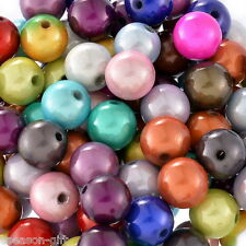 100 Mixed Miracle Acrylic Round Spacer Beads 12mm