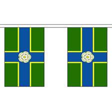 """NORTH Equitazione dello Yorkshire Bunting 3M lungo con 10 Bandiere 9 """"X6"""" Inglese Contea"""