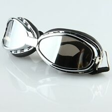 Anti-UV Motorcycle Bike Windproof Riding Goggles Glasses Mirror Lenses NEW