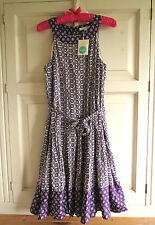 BNWT Boden Felicity Dress UK 14 Long (US 12 EU 40 42) Purpl Compass