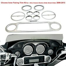 Chrome Inner Fairing Trim Kit to Harley Ultra Classic Electra Glide Street 06-13