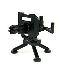 Minigun With Tripod (W227) Mount Machine Gun compatible w/ toy brick minifigures