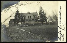 Antique Real Photo Postcard RPPC Victorian House  Somerville New Jersey NJ 1906