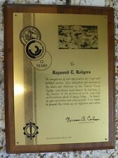 US Federal Prison System Retirement Award Plaque Raymond E. Rodgers 1964-1976
