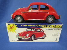 Taiyo Volkswagon Beetle Tin Battery Operated IOB Japan