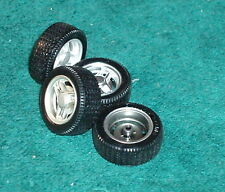 UNIVERSAL HOBBIES TIRES & SILVER WHEELS ONLY 1/18 SET OF 4