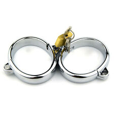 Adult Game Toys Roleplay Handcuffs Wrist Restraint Slave Stainless Steel Shackle