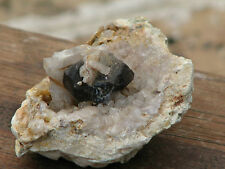 Raw Smoky Quartz Terminated Crystal surrounded by Clear Quartz, Natural