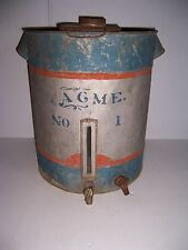ANTIQUE CREAM SEPARATOR LARGE METAL FARM DAIRY CAN MARKED ACME NO 1