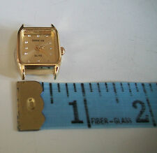 Gold finish gold dial women's watch face movement  for watches