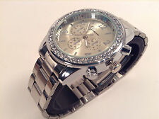 Watch Woman GENEVA Bling Crystal  Girl Charm Stainless Steel Quartz Analog Girl