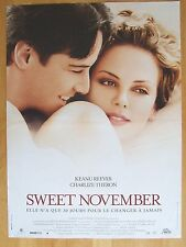 AFFICHE - SWEET NOVEMBER - Keanu Reeves, Charlize Theron