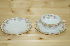 """Antique Elite Limoges BWD149 Lot of (1) Cup, 2"""" and (2) Saucers, 6"""""""