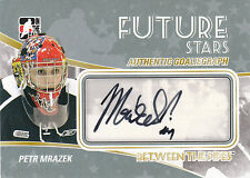 10-11 ITG Between The Pipes Petr Mrazek Future Stars Autograph Detroit Red Wings