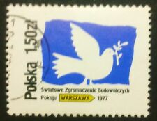 POLAND STAMPS Fi2356 Sc2213 Mi2502-Congress of World Council of Peace, 1977,used