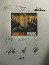 Criminal Minds Signed TV Script X10 Mandy Patinkin Tom Gibson Shemar Moore repnt