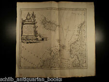 1774 HUGE MAP of British Isles Europe ICELAND Scandinavia Arctic Norway ATLAS