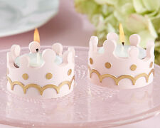 4 Princess Pink Crown Tealight Candle Birthday Baby Shower Favors Decorations