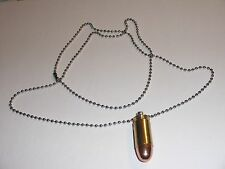 Bullet Necklace Neck Chain .45 ACP 45 Auto Full Metal Jacket Brass Casing - NEW
