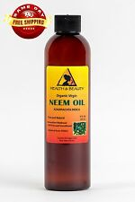 NEEM OIL ORGANIC by H&B Oils Center UNREFINED VIRGIN COLD PRESSED PURE 8 OZ
