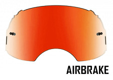 GOGGLE-SHOP RED INFERNO MIRROR LENS to fit OAKLEY AIRBRAKE MOTOCROSS GOGGLES