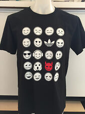 ADIDAS EMOJIAS 2C BLACK GRAPHIC TEE T SHIRT MENS SIZE LARGE NWT