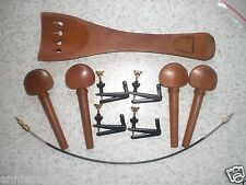 1 Set High Quality Cello Red Jujube Fitting with Fine tuner and Tail gut all 4/4