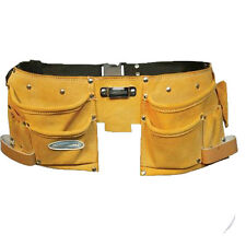 NEW BUILDERS TYPE LEATHER TOOL BELT 11 POCKET TOOLBELT