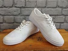 RANSOM MENS UK 7 WHITE HURON TRAINERS RRP £55