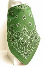 forrest green lined bandana scarf Fierce Face Protection mask
