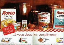PUBLICITE ADVERTISING 116  1962  Royco  potages consommé bouillons (2p) en étui