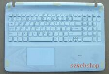 New US keyboard SONY Vaio SVF153A1YL SVF1521E6E Palmrest touchpad cover white