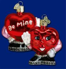 MR. BE MINE VALENTINE'S DAY HEART OLD WORLD CHRISTMAS GLASS ORNAMENT NWT 30017