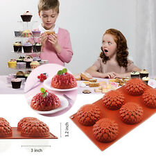 6-Cavity Sunflower Cupcake Silicone Mold Chocolate Pudding Baking Pan Soap Mould