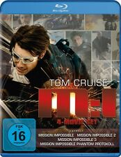 JON VOIGHT TOM CRUISE - MISSION: IMPOSSIBLE 1-4 (4 MOVIE SET) 4 BLU-RAY NEU