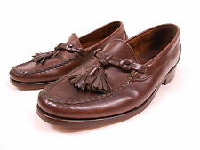 POLO RALPH LAUREN MENS BROWN LEATHER CASUAL TASSEL LOAFER SHOES MOCCASINS 8 D