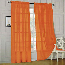 """Set of 4 Sheer Voile Curtains, Panels, Window Drapes 55"""" X 84"""" polyester sheers"""
