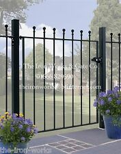 # WROUGHT IRON METAL GATE GARDEN GATES (MANOR SMALL) ALL SIZES AVAILABLE BESPOKE
