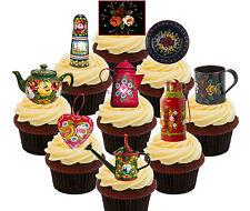 Canal Ware comestibles Cup Cake Toppers, 36 levantado Hada Bun Decoraciones Estrecho Barco
