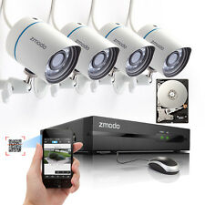 Zmodo 4CH NVR 720P HD IP Network Home Surveillance Security Camera System 1TB