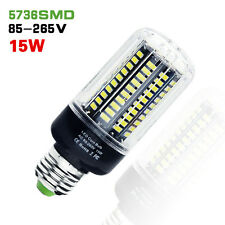 E27 Led Bulb 5736 SMD 115 Leds Corn Light 15W Candle Lamp White AC85-265V