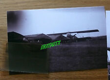RARE NEGATIF +PHOTO AVION WWI 14/18  TERRAIN D ATTERISSAGE GUERRE