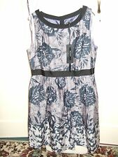 BNWT STUNNING BLUE FIFTIES-STYLE DRESS 18 BY M&S EXCEL COND **REDUCED**