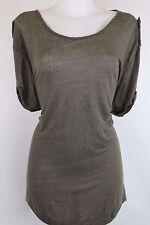 Pierre Balmain - Olive Green Short Sleeve Chain Mail Design Shirt Size 26 / 40