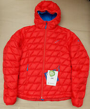 VAUDE KABRU HOODED LADIES DOWN JACKET BNWT £200+ SIZE 12 (40) RED WOMENS COAT