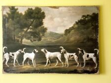 Vintage Painting Print On Canvas Stubbs Hounds Dogs Hunt Ready to Hang